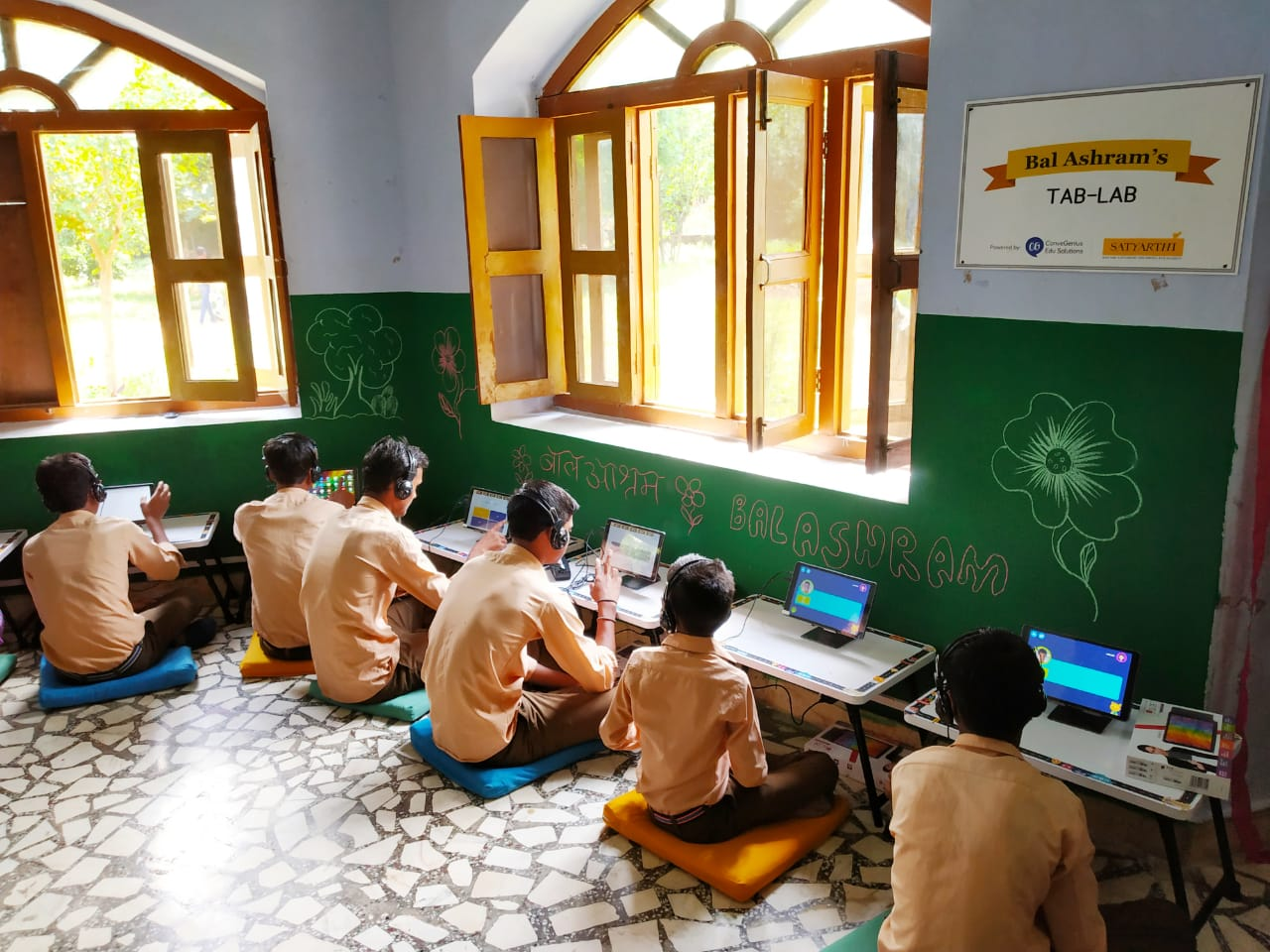 ConveGenius Tab Lab in Kailash Satyarthi's Bal Ashram