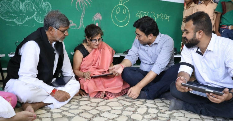 Convegenius Tab-Labs in Mr. Kailash Satyarthi's bal Ashram